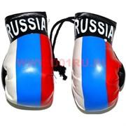 Перчатки боксерские в цветах российского флага (подвеска), цена за 6 пар