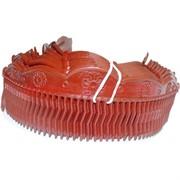 Гребень для волос цвет красный (со стразами), цена за упаковку 12 шт