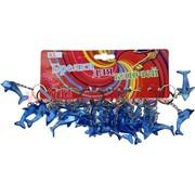 Брелок (KL-699) дельфин синий прозрачный цена за 120 шт (1440 шт/кор)