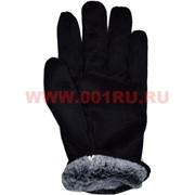Перчатки рабочие черные с мехом