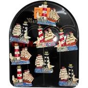 Магнит (MG-151) Черное море маяк и чайка, цена за 288 шт