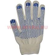 Перчатки рабочие сине-белые простые