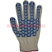 Перчатки рабочие сине-белые