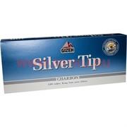Гильзы сигаретные Gizeh угольные Silver Tip 200 шт King Size