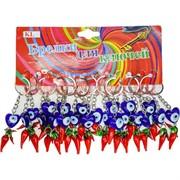 Брелок (KL-355) сердце «сглаз» с перцами, цена за 120 шт (1200 шт/кор)