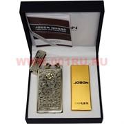 Зажигалка Jobon разрядная с узорами с зарядкой от USB