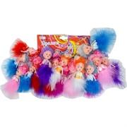 Брелок (KL-680) куколка-принцесса в пухе, цена за 120 шт (1200 шт/кор)