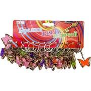 Брелок (KL-659) бабочка цветная, цена за 120 шт (2400 шт/кор)
