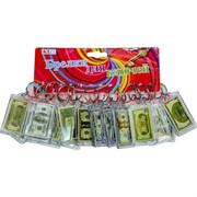 Брелок (KL-56) доллары в пластмассе, цена за 120 шт (1200 шт/кор)