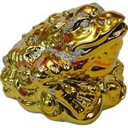 Жаба из фарфора под золото (900) 8 см высота