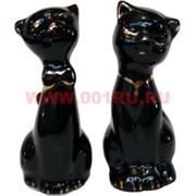 Кошечки из фарфора черные раздельные 8 см, цена за пару