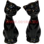 Кошечки из фарфора черные раздельные 12,5 см, цена за пару