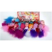 Брелок (KL-681) куколка в шапочке, цена за 120 шт (1200 шт/кор)