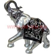 Слон из полистоуна серебряный 25 см высота