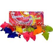 Брелок (KL-545D) дельфин цветной пищит, цена за 120 шт (1200 шт/кор)