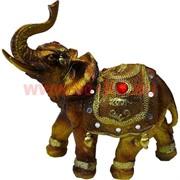 Слон полистоун (853) рубин на попоне 15,5 см высота