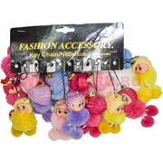 Подвеска (FM-50) на сотовый, сумочку «куколка в шапке и шарфике», цена за 120 шт (1200 шт/кор)