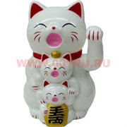 """Коты Манэки Нэко """"семья"""" 11,5 см высота, 3 цвета"""