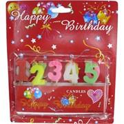 Свечи подарочные с цифрами, цена за 12 шт