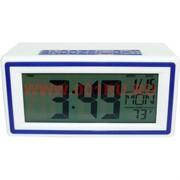 Часы электронные (2ААА батарейки)+календарь+термометр