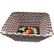 Тарелка для фруктов, конфет из березы, квадратная