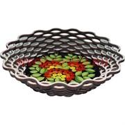 Тарелка для фруктов, конфет из березы, круглая большая