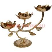 Подсвечник из латуни на 3 свечи (Индия)