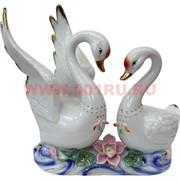 Лебеди пара со стазами большие (905) 22,5 см высота (фарфор)