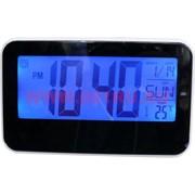 Часы электронные (3ААА батарейки)+календарь+термометр