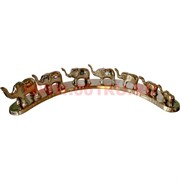 7 слонов на мосту из латуни (Индия)