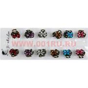 """Заколка """"краб"""" 6 цветов со стразами (CJ-1939) цена за 12 шт"""
