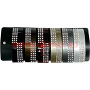 """Заколка для волос """"автомат"""" со стразами (V-022) цена за 12 шт"""