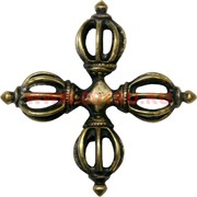 Ваджра в виде креста 7 см (латунь)