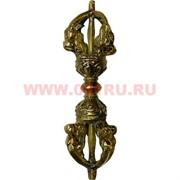 Ваджра из латуни 10,5 см (ритуальное и мифологическое орудие)