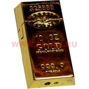 """Зажигалка """"Слиток золота"""" большая 20 штук в блоке"""