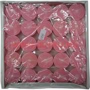 Свечи чайные 25 шт розовый цвет