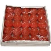 Свечи чайные 25 шт красный цвет