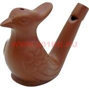 """Фигурка-свисток """"птичка"""" для чайной церемонии из глины"""