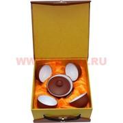 Чайный набор в подарочной коробке (глина+фарфор)