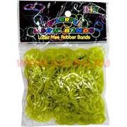 """Резинки Лум Бэндс 600 шт """"гелевые с блестками"""", цена за 12 упаковок, цвета в ассортименте"""
