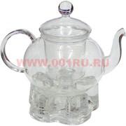Чайник заварочный стеклянный большой