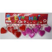 Брелок «сердца с подвсветкой» (R-774) цена за 12 шт