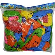 Шарики надувные 12 дюймов «смайлик» 100 шт
