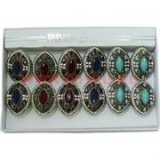 Набор колец размер 17-19 три цвета цена за упаковку 12 шт
