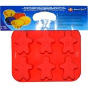 """Силиконовая форма для выпечки (B-016) цена за коробку из 60 шт, цвета в ассортименте """"песочный человечек"""""""