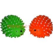 Игрушка пищащая для собак «ежики большие» 4 цвета цена за 12 шт
