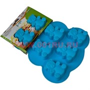 """Силиконовая форма для выпечки (B-080) цена за коробку из 72 шт, цвета в ассортименте """"мишки"""""""