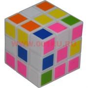 Игрушка Кубик головоломка цветной белый мини 3,5 см