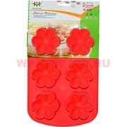 """Силиконовая форма для выпечки (B-084) цена за коробку из 72 шт, цвета в ассортименте """"цветочки"""""""