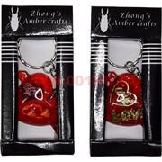 Брелок с сердцем (1079) цена за 12 шт (черная упаковка)